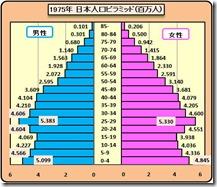 人口ピラミッド1975