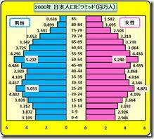 人口ピラミッド2000年