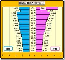 人口ピラミッド2050年