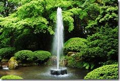 兼六園の噴水