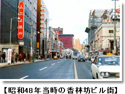 昭和48年当時の香林坊ビル街
