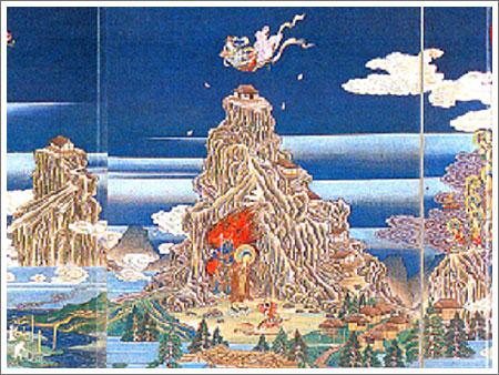 3896d13301a3f5 立山山頂真下に広大な地獄谷がある…火口がぽっかり口を開け、熱泉が煮えたぎり、轟音とともにガスが噴き上げる…山頂近くに登ってきた修験者には、まぎれもなくこの世の  ...